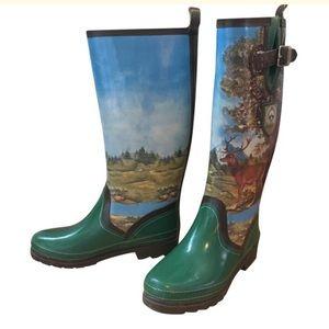 Giesswein Buck Landscape Tall Rain Boots Size 7